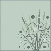 foto of bull rushes  - bullrushes stylized - JPG