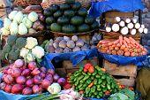 Vegetable Market In Sucre, Bolivia poster