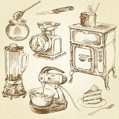 stock photo of cake-mixer  - vintage kitchenware - JPG