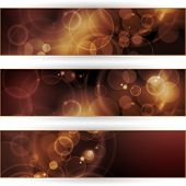 Vector header, banner set. Overlying semitransparent circular shapes forming a bokeh background with