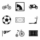 Bicycle Tour Icons Set. Simple Set Of 9 Bicycle Tour Icons For Web Isolated On White Background poster