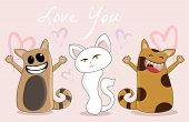 image of you are awesome  - love you cats in action love you this much - JPG