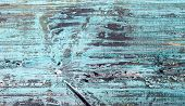 Blurred Background Texture Of Painted Wood. Top View On The Texture Of A Blue-green Wooden Board Wit poster