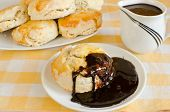 foto of biscuits gravy  - Scones with chocolate gravy - JPG