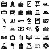 Accommodation Icons Set. Simple Style Of 36 Accommodation Icons For Web Isolated On White Background poster
