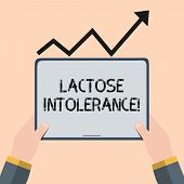 Handwriting Text Writing Lactose Intolerance. Concept Meaning Digestive Problem Where Body Is Unable poster