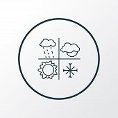 Meteorology Icon Line Symbol. Premium Quality Isolated Weather Element In Trendy Style. poster
