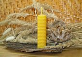 foto of taper  - the hand rolled natural beeswax candles taper - JPG