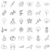 Climate Icons Set. Outline Style Of 36 Climate Icons For Web Isolated On White Background poster