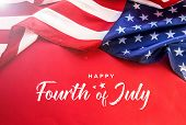 Celebrating Independence Day. United States Of America Usa Flag Background For 4th Of July poster
