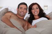 picture of concubine  - Husband and wife in bed together - JPG