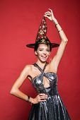 Halloween Dresses And Witch Costumes And Witch Hats. Witch Hat. Happy Halloween Quotes For Spooky Fu poster