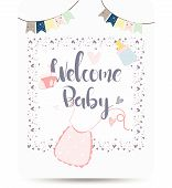 Congratulations New Baby Card Drawn,baby Card Background Message Newborn Gif, Baby Photo Props,greet poster