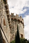 Medieval Castle In Levanto Italy poster