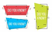Creative Vector Illustration Of Did You Know Question Mark Label Badge Isolated On Transparent Backg poster