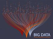 Big Data Statistical Analysis Visualization Concept Vector Design. 0 And 1 Binary Code Matrix Data V poster