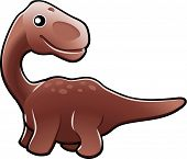 pic of apatosaurus  - A vector illustration of a cute friendly diplodocus dinosaur - JPG