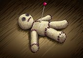 foto of voodoo  - Voodoo doll hand drawing vector illustration - JPG