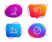 Writer, Bitcoin Graph And Ambulance Car Icons Simple Set. Audit Sign. Copyrighter, Cryptocurrency An poster