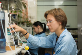 foto of hplc  - The young nice woman - JPG