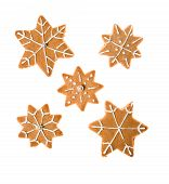Image of decorated homemade gingerbread cookies.