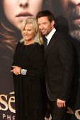 NEW YORK-NOV 18: Actor Hugh Jackman and wife, Deborra-Lee Furness attend the premiere of