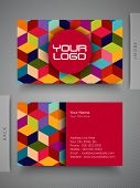 image of funky  - Colorful professional and designer business card set or visiting card set - JPG