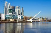 image of calatrava  - The modern Puerto Madero district in Buenos Aires - JPG