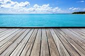 Empty Sea Pier On A Tropical Island