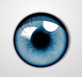 stock photo of touching  - Vector eye - JPG