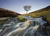 stock photo of chute  - A beautiful waterfall situated on the moorland above Hebden Bridge in West Yorkshire - JPG