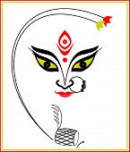 foto of durga  - Abstract art of Maa Durga - JPG