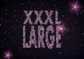 3D Graphic Of A Large Xl Symbol Of Glamour Stars