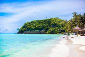 pic of boracay  - Perfect tropical beach with turquoise water and white sand beaches in Boracay Philippines - JPG
