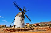 picture of canary-islands  - old windmill in Antigua - JPG