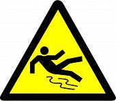 Slippery Warning Symbol