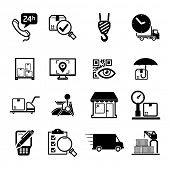 stock photo of pick-lock  - Delivery icons set  - JPG