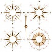 stock photo of nautical equipment  - Vintage compass icons with place for your text inside - JPG