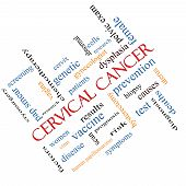 image of hpv  - Cervical Cancer Word Cloud Concept angled with great terms such as prevention women virus and more - JPG