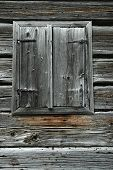 Old wooden window shutters