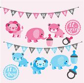 picture of baby animal  - Baby Shower Clip Art