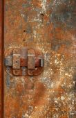 picture of slave-house  - Very old iron door with rusty details - JPG