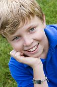 picture of young boy  - Smiling Boy Child - JPG