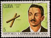 CUBA - CIRCA 1991: Postage stamp printed in Cuba showing an image of composer Miguel Failde, circa 1