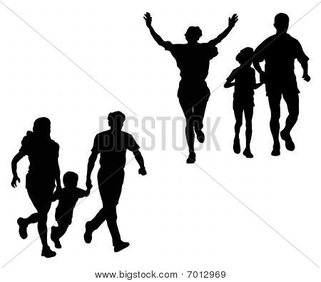 Постер, плакат: Семья Спорт, холст на подрамнике