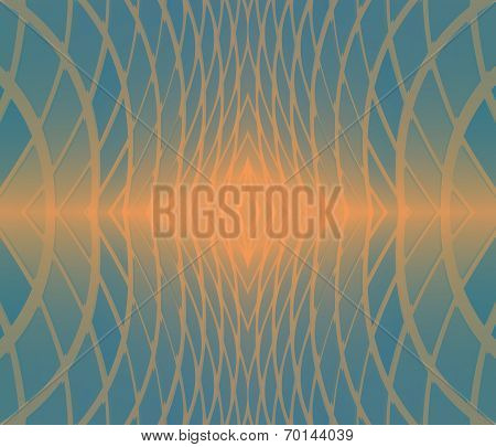 Abstract Background Circles Blue poster
