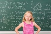 Постер, плакат: Intelligent Little Girl Child Prodigy In Class