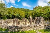 picture of albania  - Ruins of the Baptistery in Butrint  - JPG