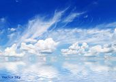 image of cumulus-clouds  - Blue sky with clouds - JPG