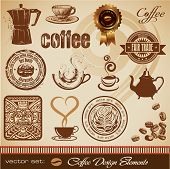 pic of coffee-cup  - vector set of detailed coffee - JPG